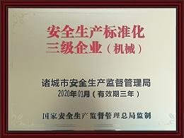 安全生产标准化三级企业(机械)